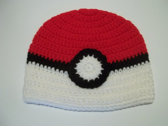 Pokeball Hat | AllFreeCrochet.com | 428x570