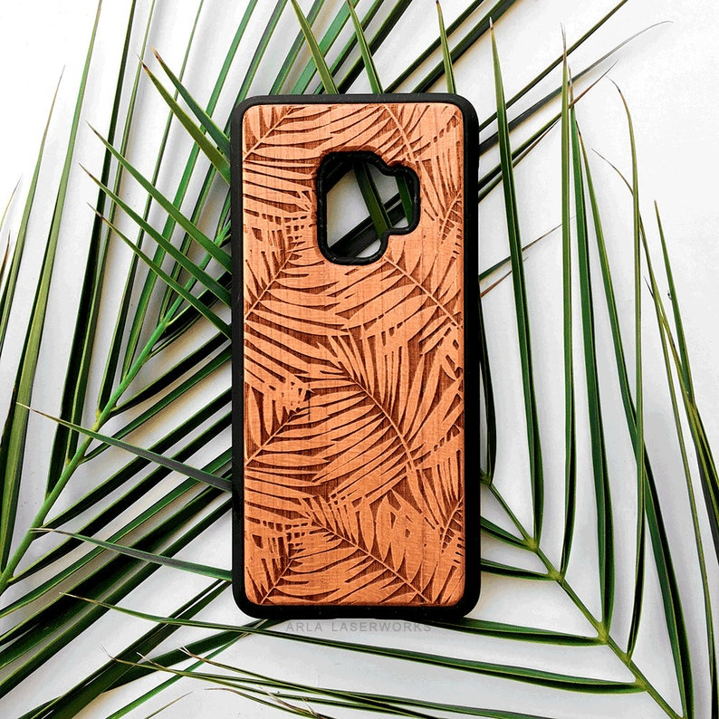 big sale 89db1 c6712 Wood Palm Tree Case, Galaxy S10 Plus, Galaxy S9 Wood Case, Samsung S8 Plus  Case, S9, Summer Palms Phone Case, Note 9, Note 8