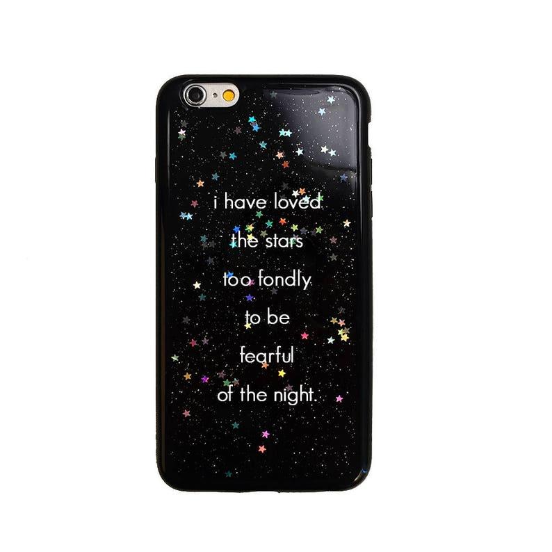 black glitter iphone 7 case