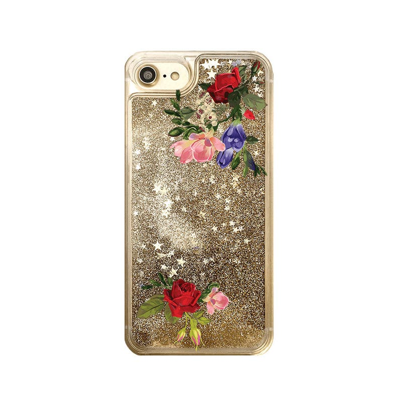 Gold Glitter iPhone Case Floral Phone Case iPhone 8 iPhone  27dc3e9fedcb