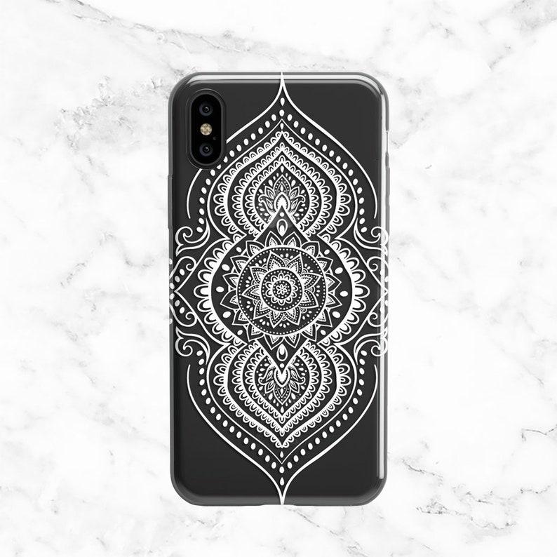 the best attitude f82c1 53686 White Mandala Phone Case, iPhone X Case, iPhone 8, iPhone 7, 6, Galaxy S8  Case, Note 8, S9, White Phone Case, Mandala