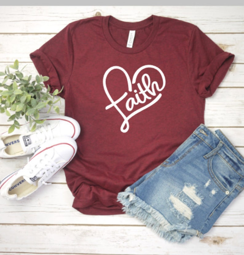 f34372602 Faith christian inspirational motivational religious tshirt | Etsy
