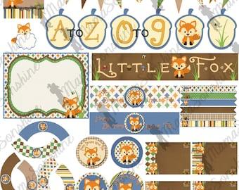Happy Birthday Little Fox Party Decorations