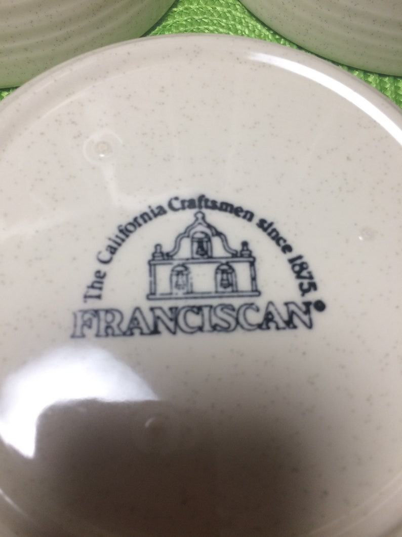 Oven to Table Franciscan /'Papaya/' Pattern Soup Cereal Bowl Made in California Dishwasher /& Microwave Safe 1975-1981
