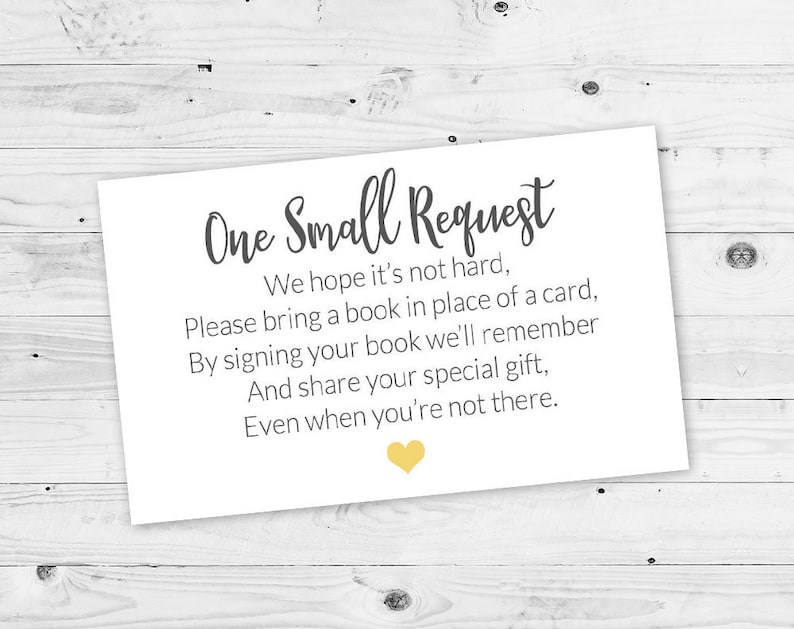 Baby Shower Printable Baby Shower Bring a Book Card Bring a image 0