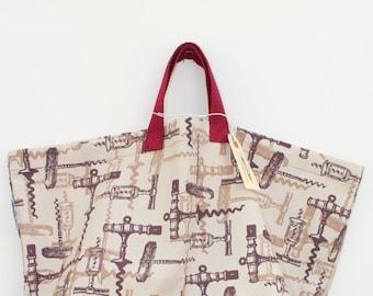 Canvas Bag: Corkscews, washable