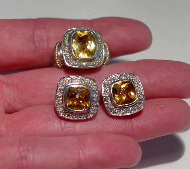 e06843d30083 Diseño Vintage 14K amarillo oro plata amortiguador corte