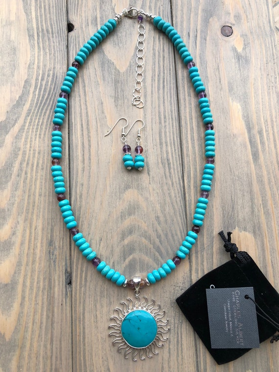 Rainbow Moonstone Beaded Necklace with a Charles Albert Moonstone Sun Detachable Pendant in Fine Sterling Silver