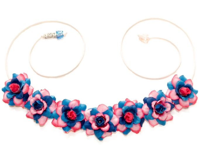 Make It Pink Make It Blue Flower Crown
