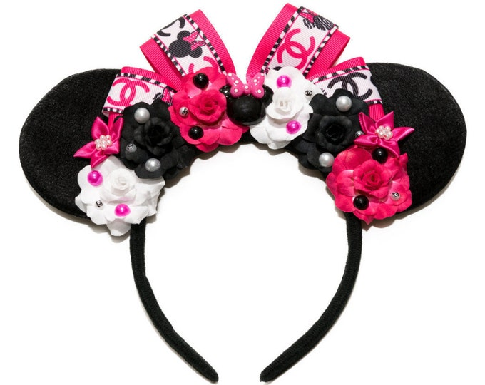 Designer Mouse Ears Headband