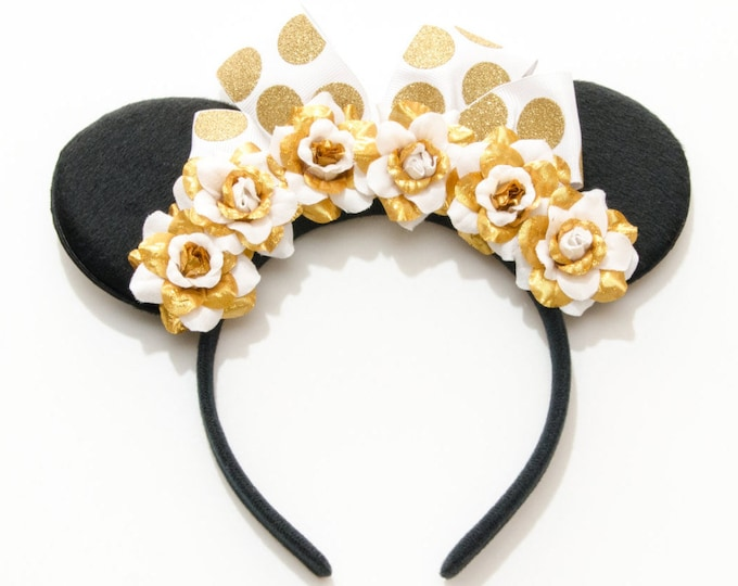 Gold White Mouse Ears