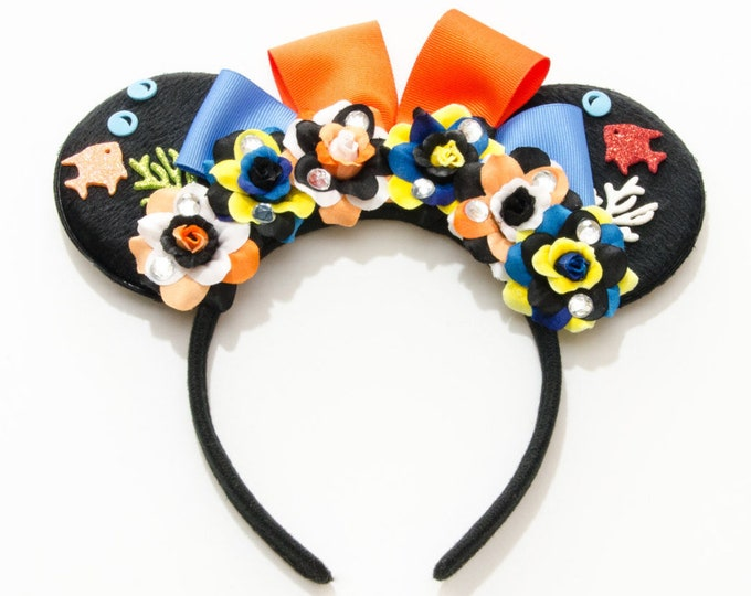 Coral Reef Mouse Ears Headband