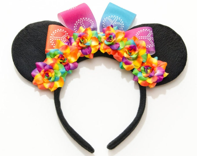 Rainbow Mouse Ears Headband