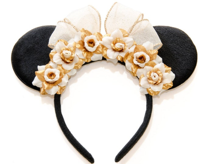 Gold Bridal Mouse Ears