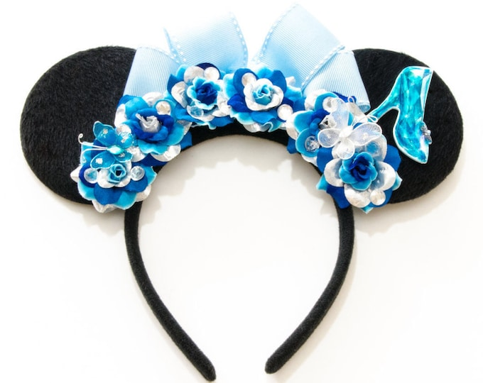 Glass Slipper Mouse Ears Headband