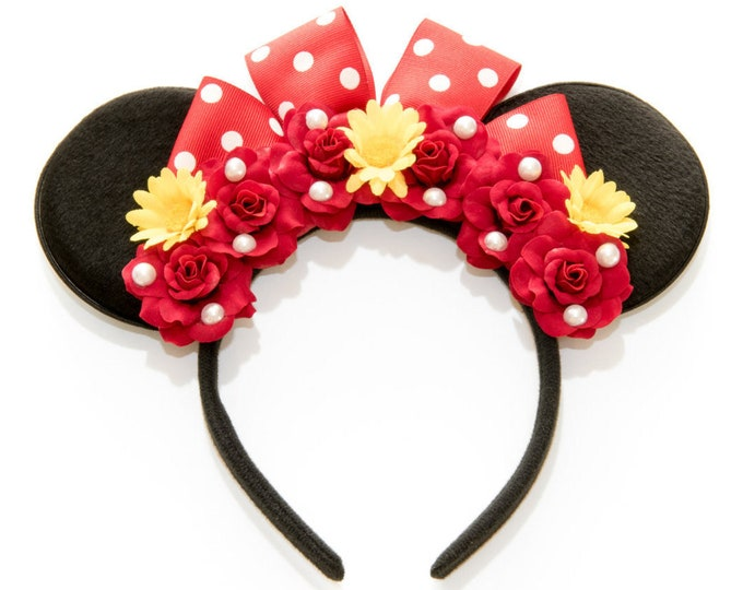 Red Minnie Ears Headband