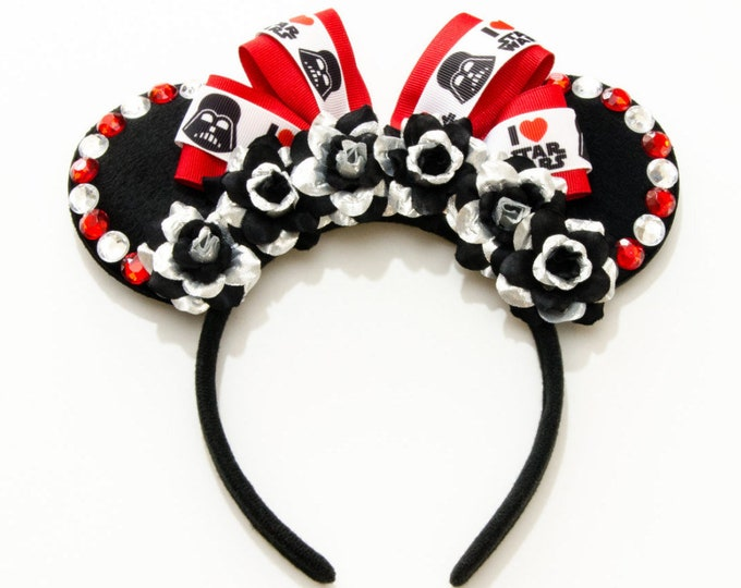 Lord Vader Mouse Ears Headband