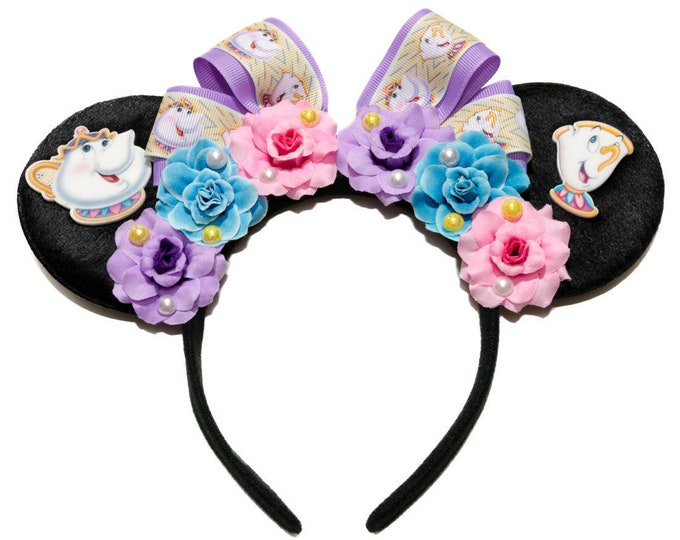 Mrs Potts and Chip Mouse Ears Headband