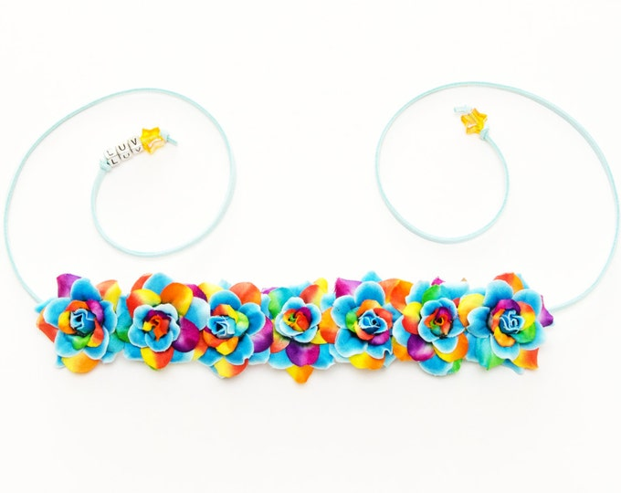 Rainbow Dash Flower Crown