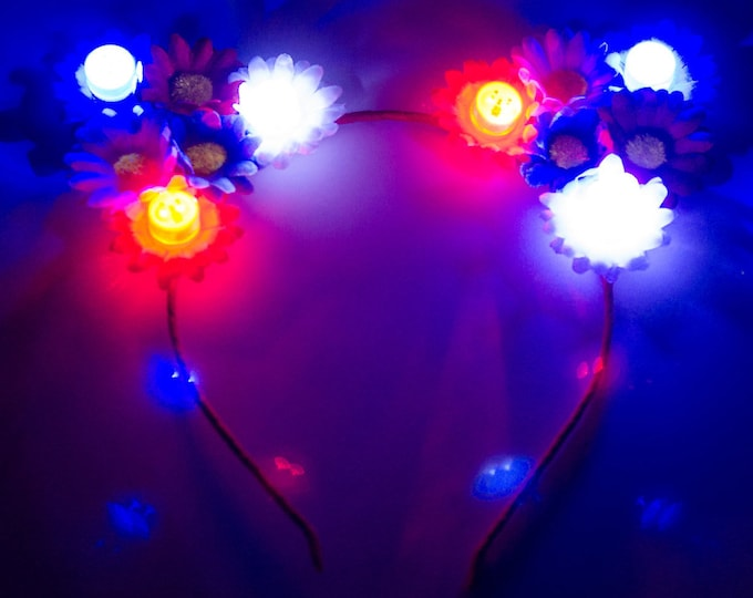 Patriotic LED Cat Ears