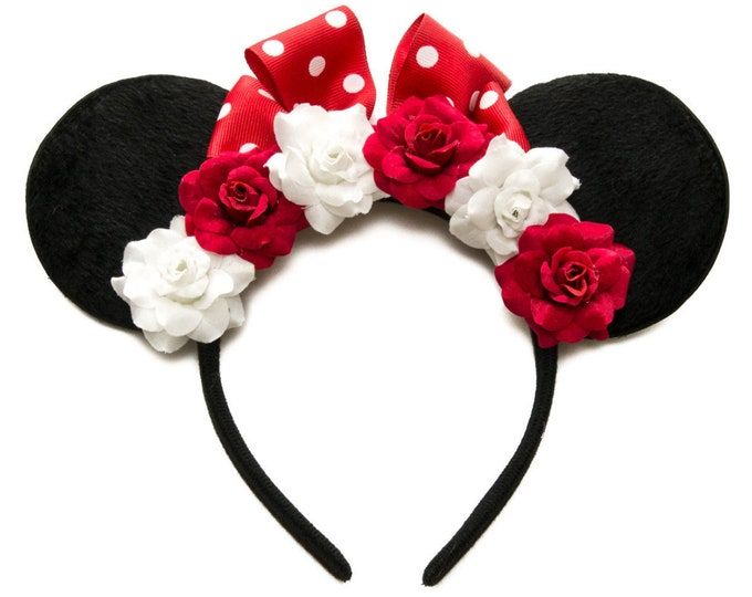 Red White Mouse Ears