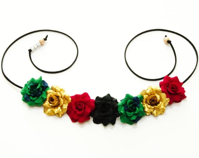 Rasta Rose Flower Crown