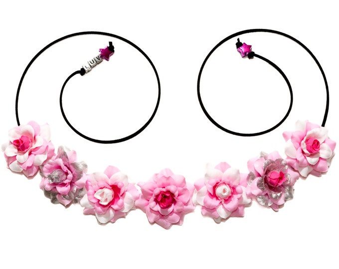 Pink Mighty Morphin Flower Crown