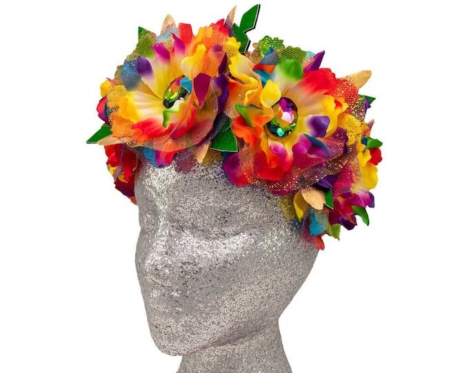 Rainbow Goddess Flower Crown