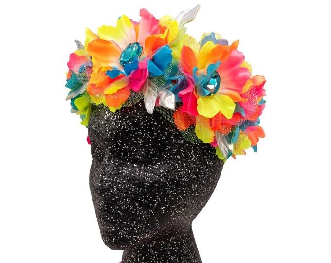 Neon Goddess Flower Crown