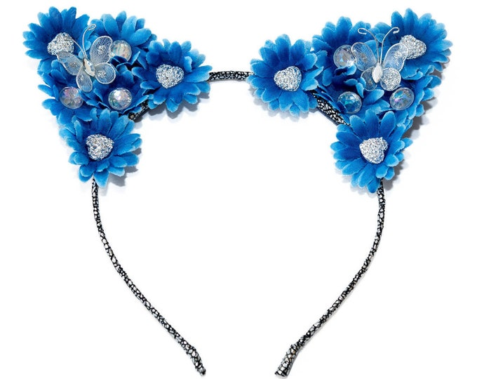 Blue Jean Cat Ear Headband