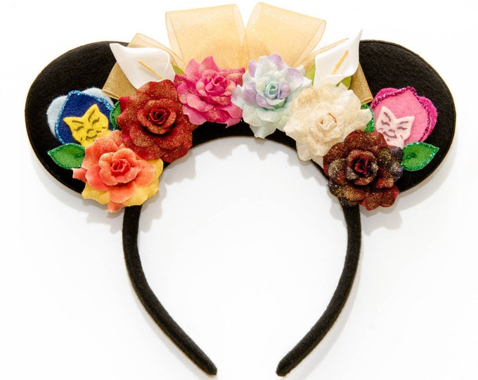 Golden Afternoon Mouse Ears Headband
