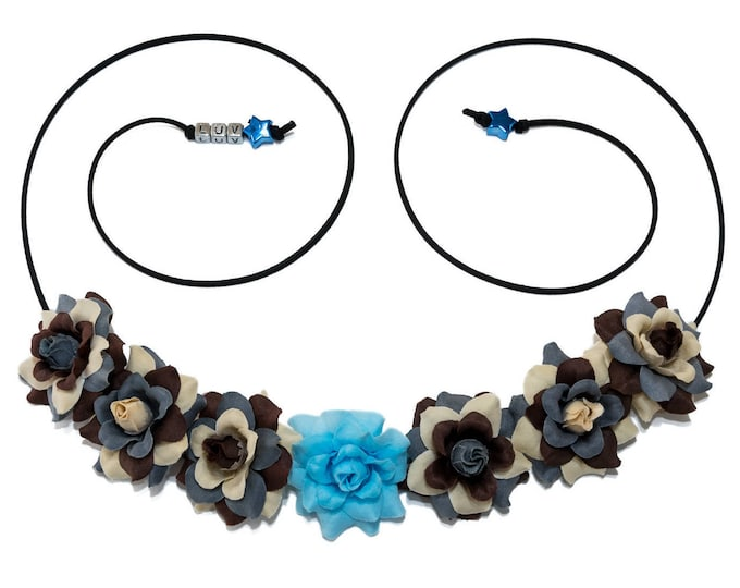 Blue Lightsaber Flower Crown