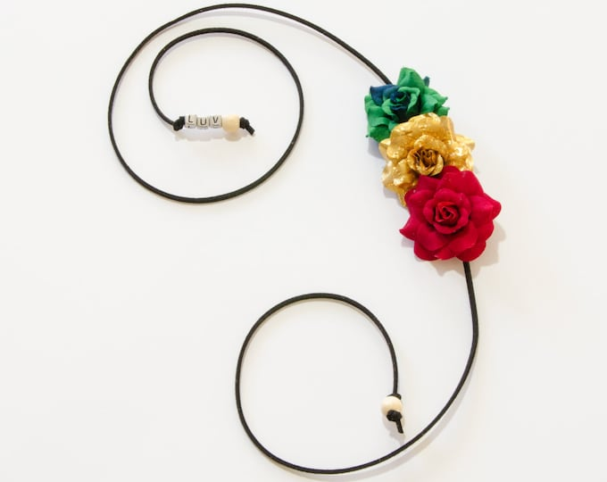 Rasta Rose Side Flower Crown