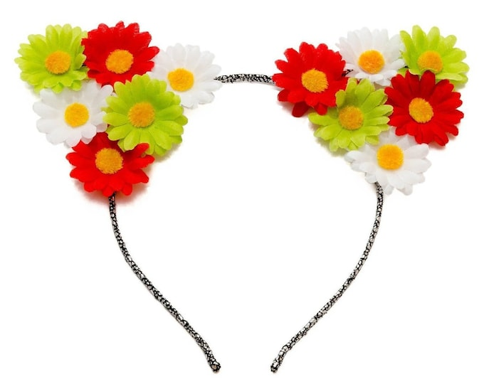 Cinco de Mayo Cat Ear Headband