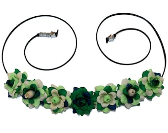 Virgo Flower Crown, Flower Headband, Zodiac Gift, Virgo Star Sign, Virgo Gift, Zodiac Sign, Birthday Gift, Festival Clothing, Festival Wear
