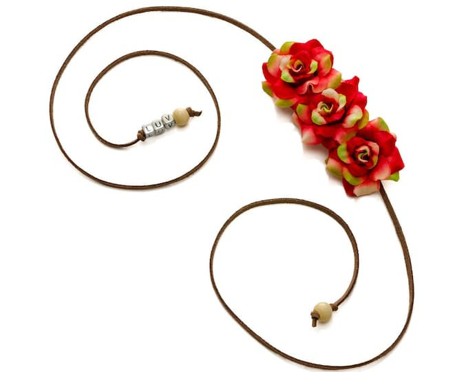 Christmas Rose Side Flower Crown