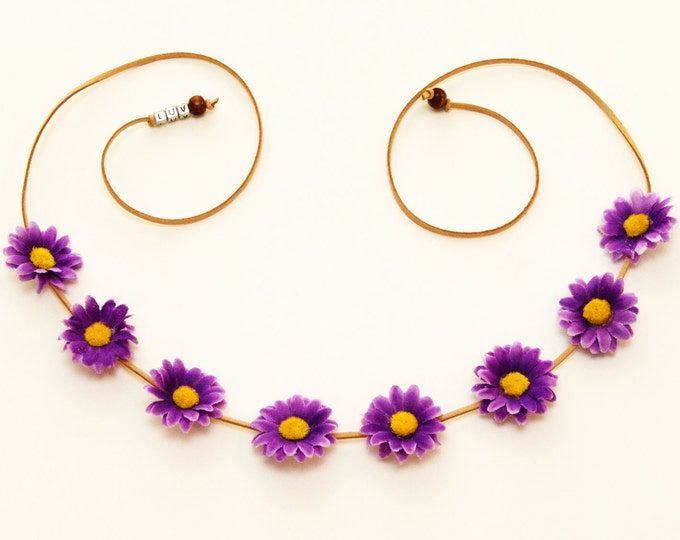 Purple Daisy Flower Crown