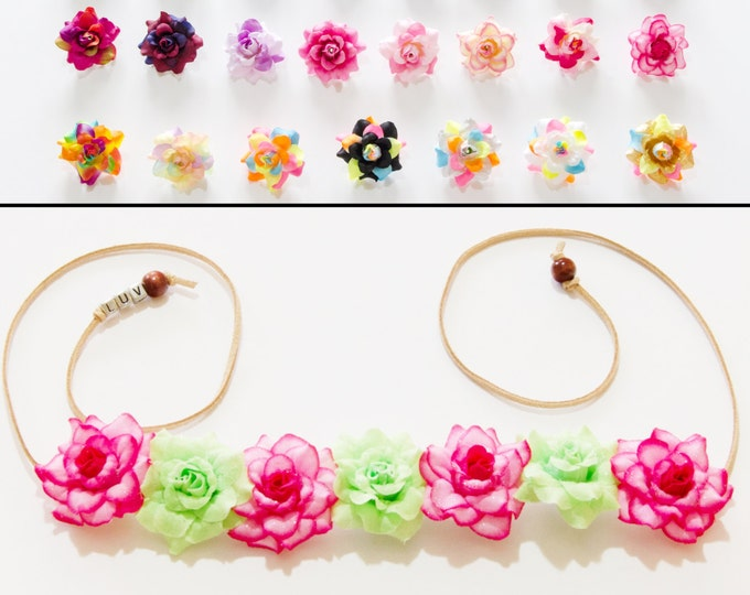 Customizable Rose Flower Crown