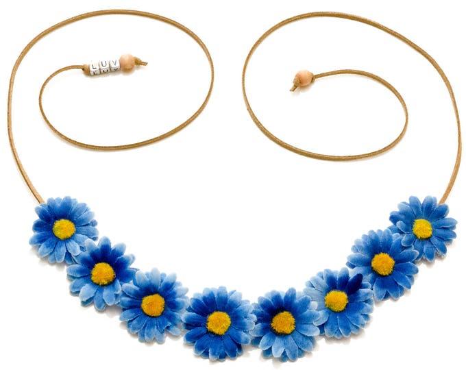 Blue Daisy Flower Crown