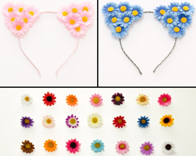 Customizable Daisy Cat Ear Headband