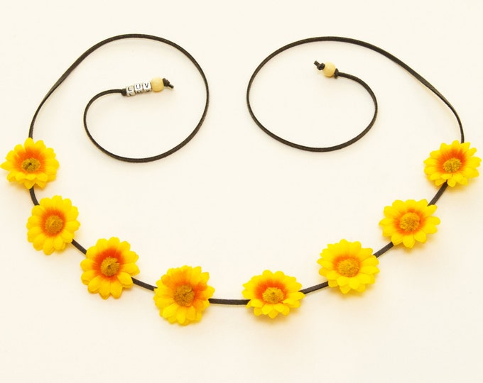 Yellow Daisy Flower Crown
