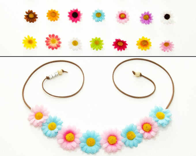 Customizable Daisy Flower Crown