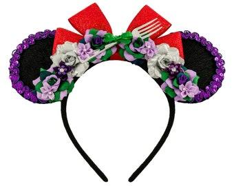 Little Mermaid Mouse Ears, Ariel Minnie Ears, Mickey Ears, Minnie Ears, Princess Minnie Ears, Flower Minnie Ears, DIsneybound