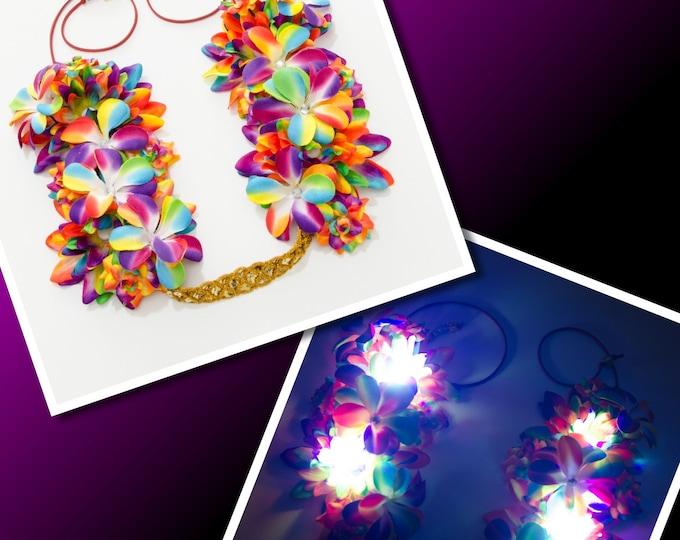 Rainbow LED Flower Crown