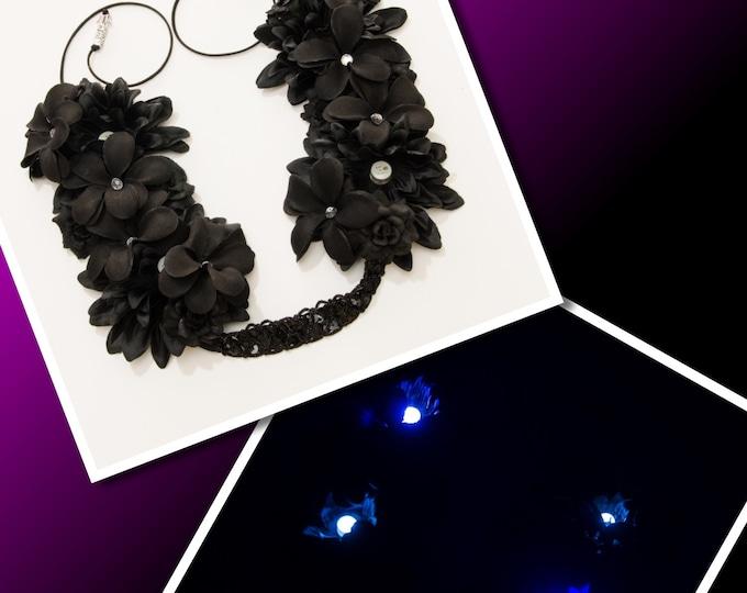 Black LED Flower Crown