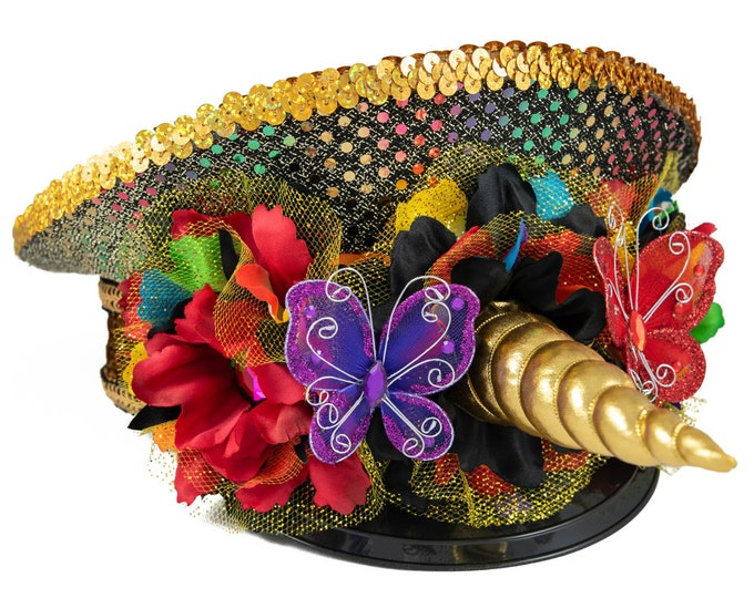 a41e00eba0a49 Rainbow Unicorn Captains Hat