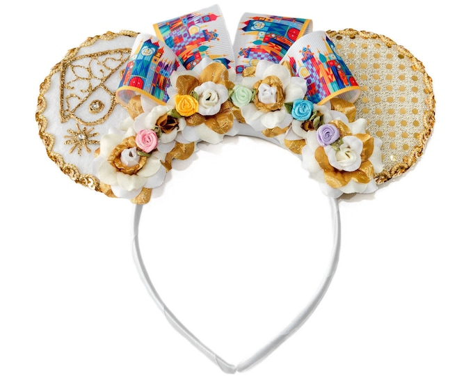 Clock Face Mouse Ears Headband