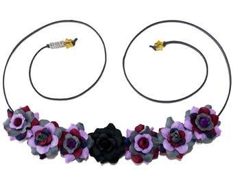 Ursula Flower Crown, Flower Headband, Ursula Crown, Ursula Costume, Ursula Dress, Villain Headband, Villain Costume, Little Mermaid Crown
