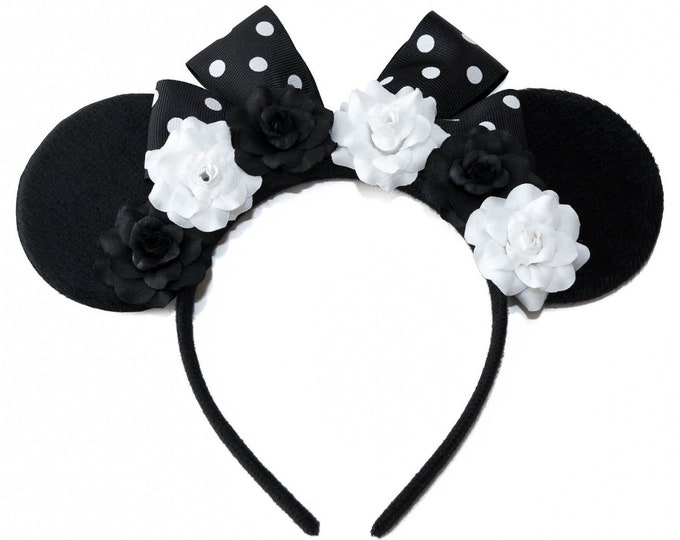 Black White Mouse Ears