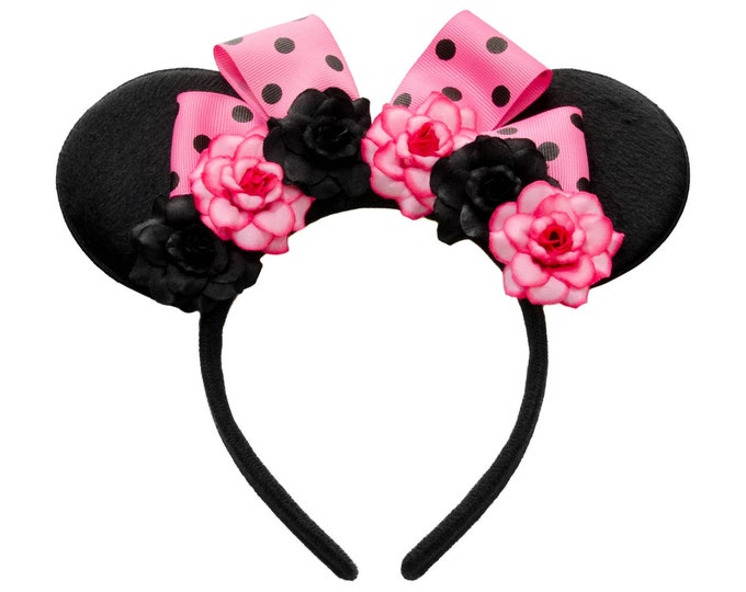 Pink Black Mouse Ears